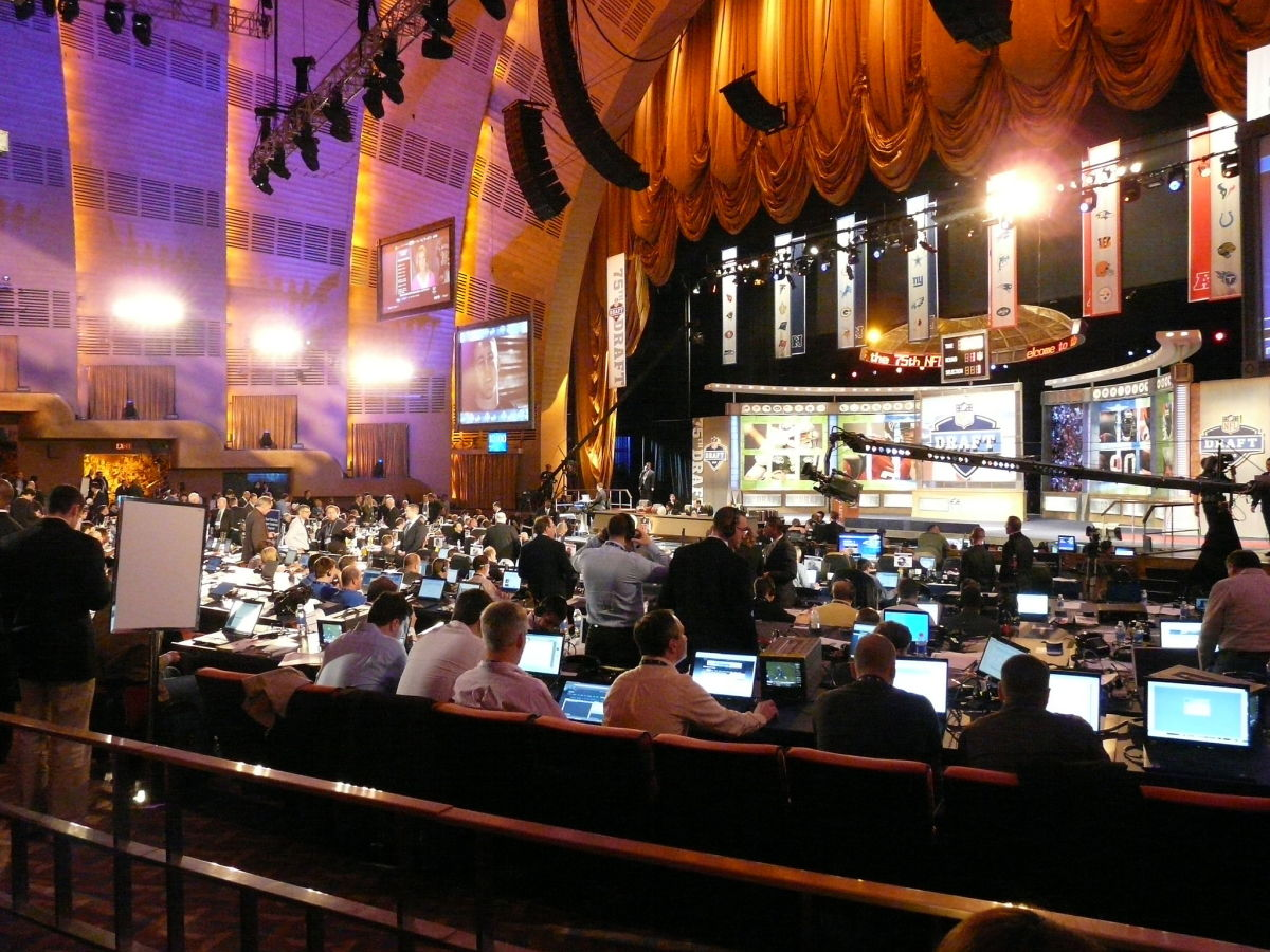 Preparing for the 2010 NFL Draft. (Photo: Marianne O'Leary/Wikimedia Commons)