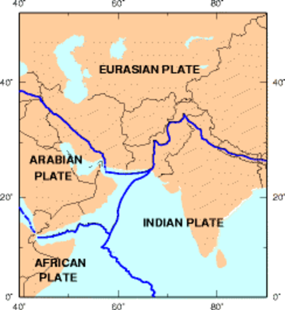 Tectonic plates. (Map: Public Domain)