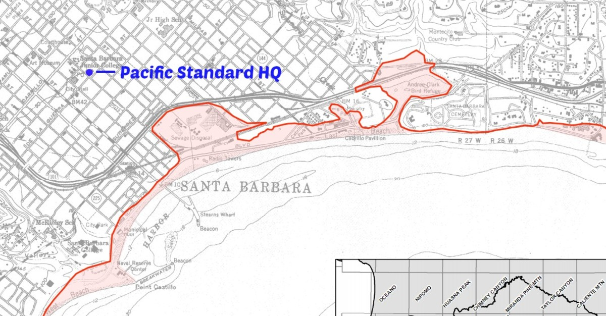 (Map: California Emergency Management Agency, the University of Southern California, the California Geological Survey, and Pacific Standard)