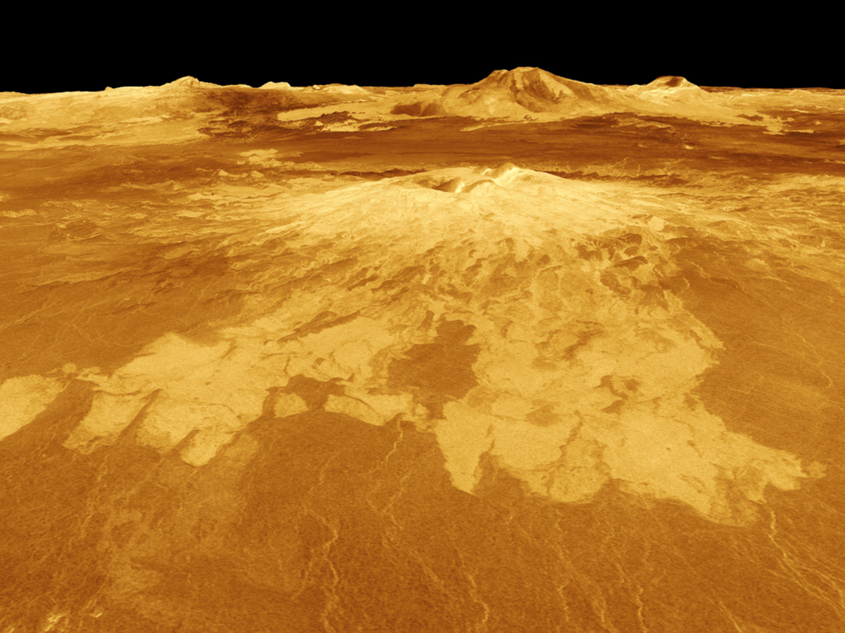 A computer-generated simulation of Venus' surface. (Photo: NASA/JPL)