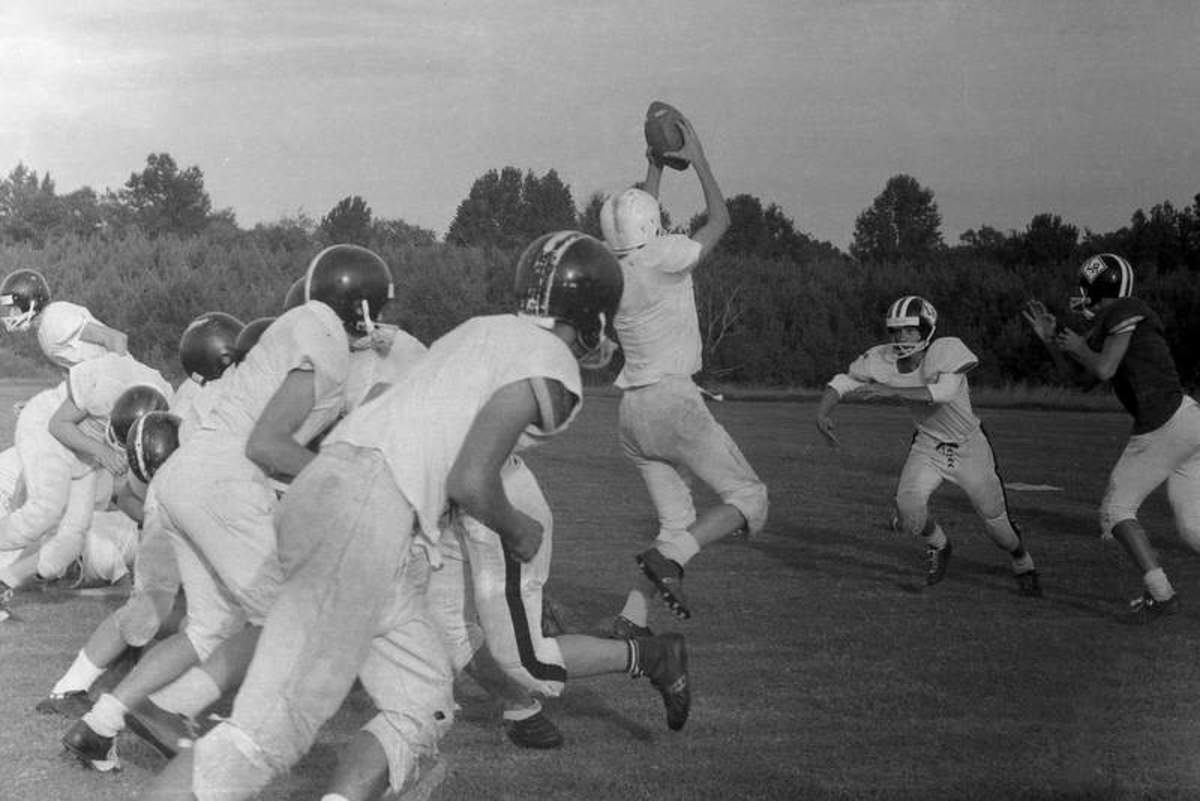 Football practice at South Carolina's Lower Richland High School in 1968. (Photo: Hunter Desportes/Flickr)