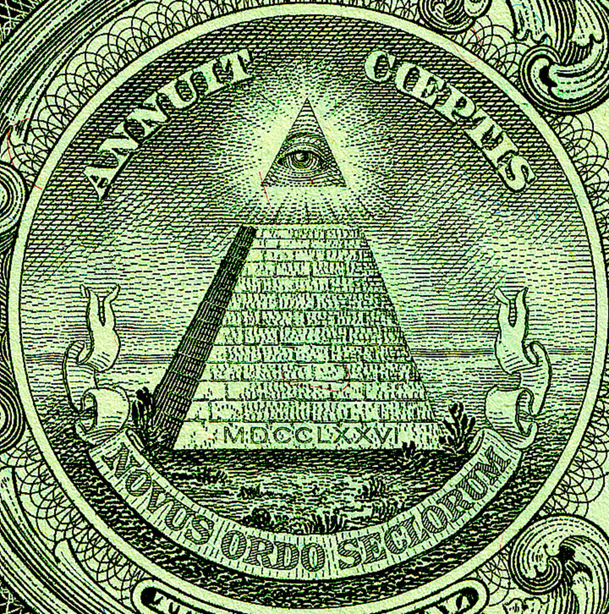 The Eye of Providence, or the all-seeing eye of God, seen here on the $1 bill, has been taken by some to be evidence of a conspiracy involving the founders of the United States. (Photo: Wikimedia Commons)