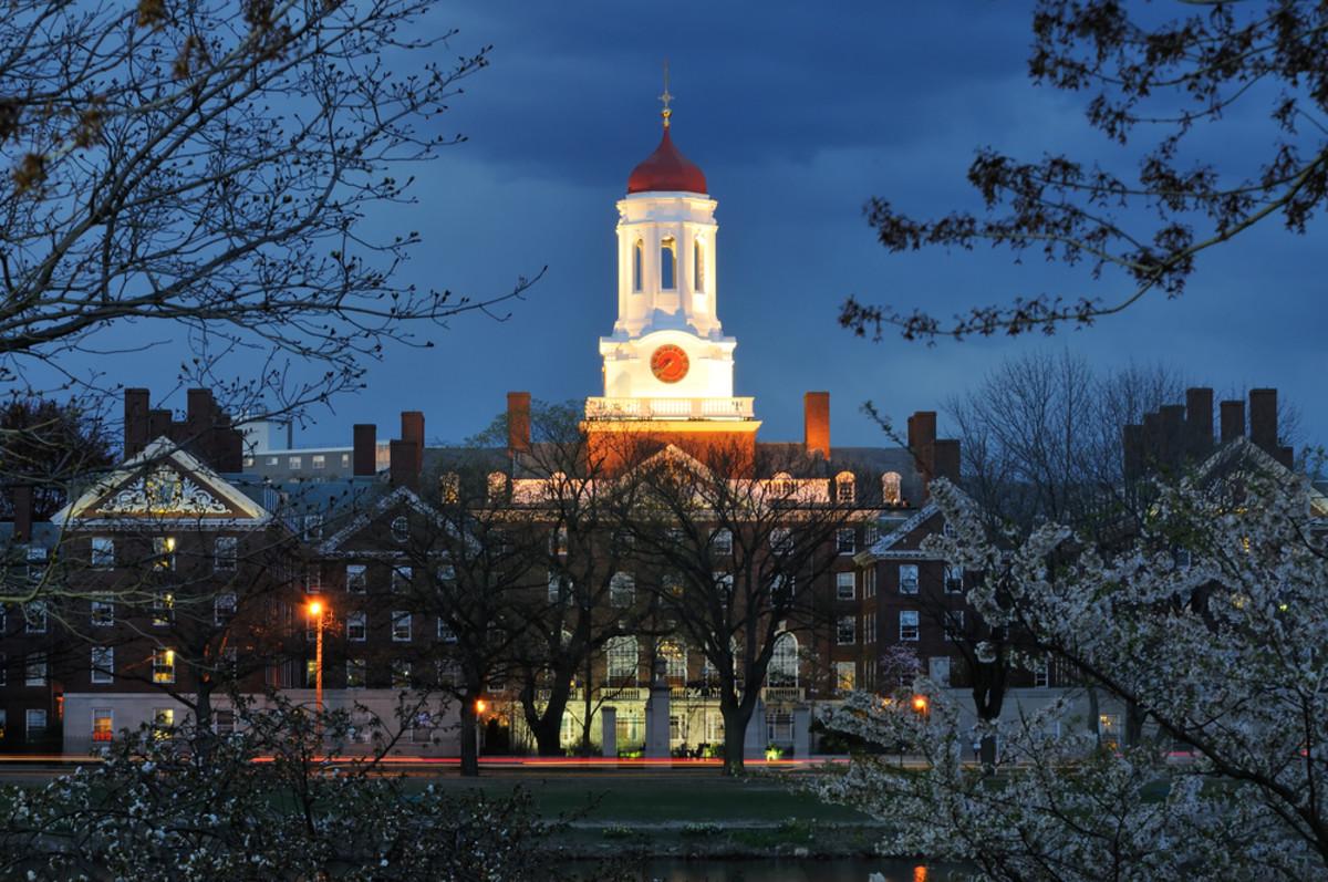 Harvard University at night. (Photo: Jorge Salcedo/Shutterstock)