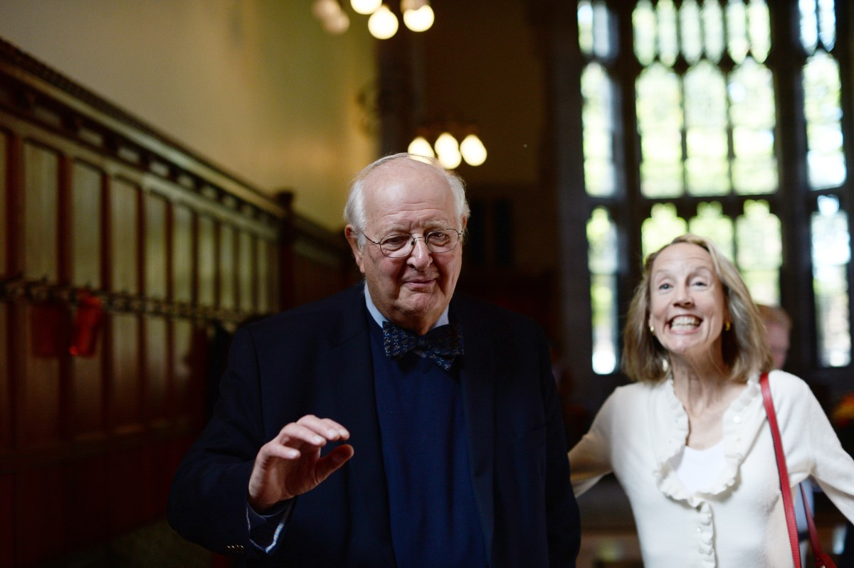 Angus Deaton and Anne Case arrive at a reception after Deaton was awarded the Nobel Prize for Economics at Princeton University in October. (Photo: Jewel Samad/AFP/Getty Images)