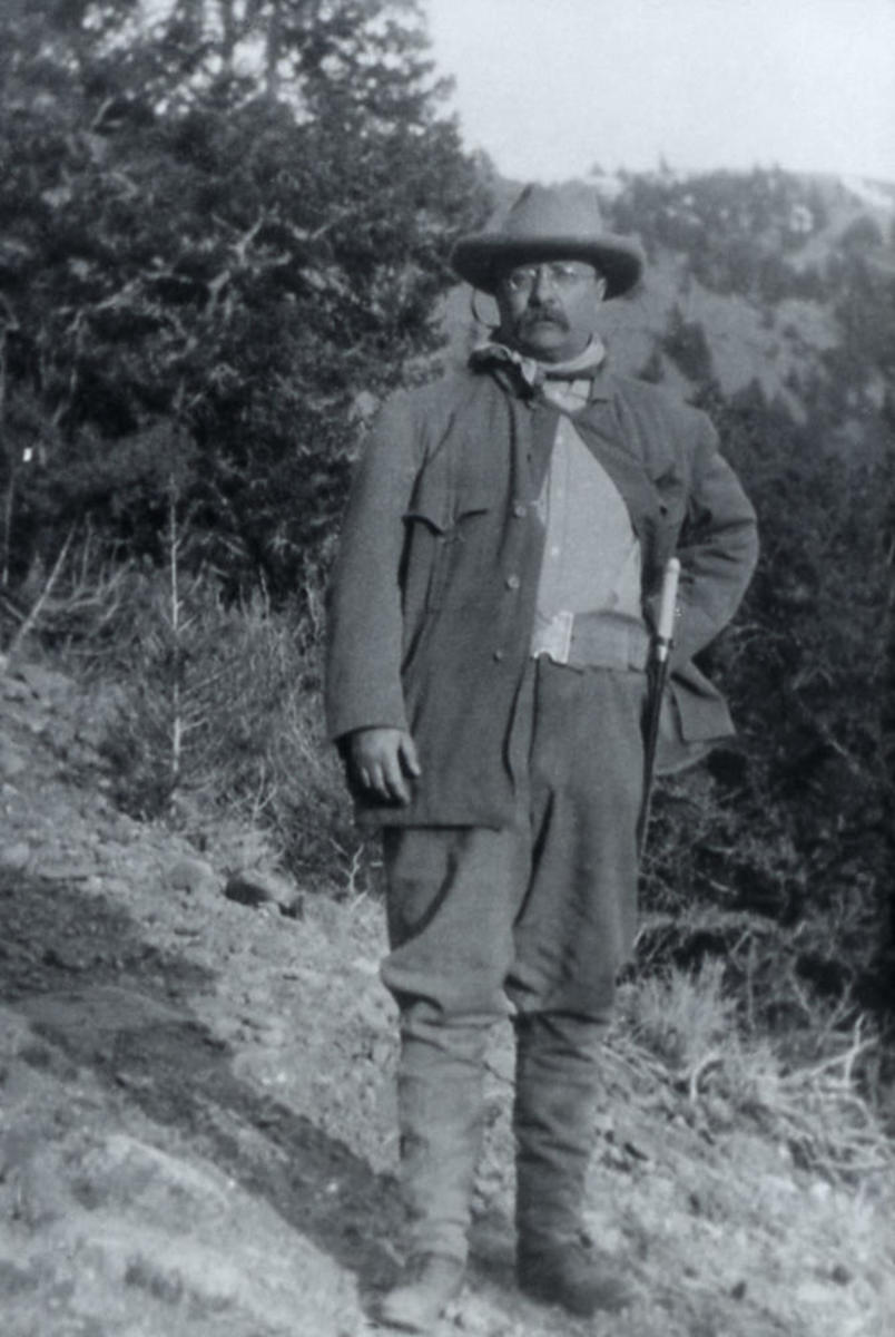 President Theodore Roosevelt in Yellowstone National Park in 1903. (Photo: NPS)