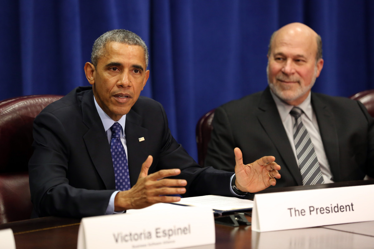 President Barack Obama meets with agriculture and business leaders at the Department of Agriculture in October to discuss the benefits of the Trans-Pacific Partnership for American businesses and workers. (Photo: Martin H. Simon-Pool/Getty Images)