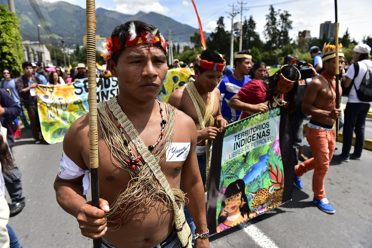 yasuni amazon ecuador protest climate