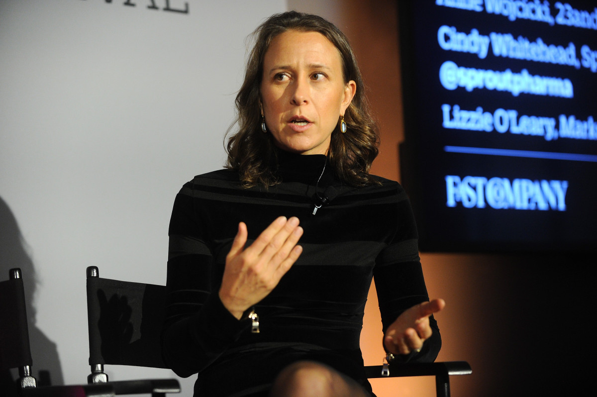 23andMe CEO Anne Wojcicki speaks on stage during the Fast Company Innovation Festival. (Photo: Brad Barket/Getty Images for Fast Company)