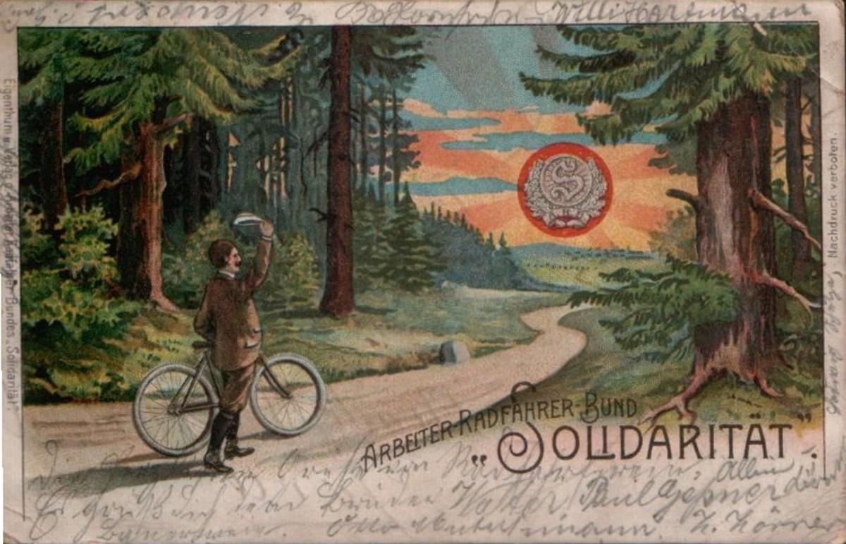 Arbeiter-Radfahrer-Bundes Solidarität postcard. (Photo: Wikimedia Commons)