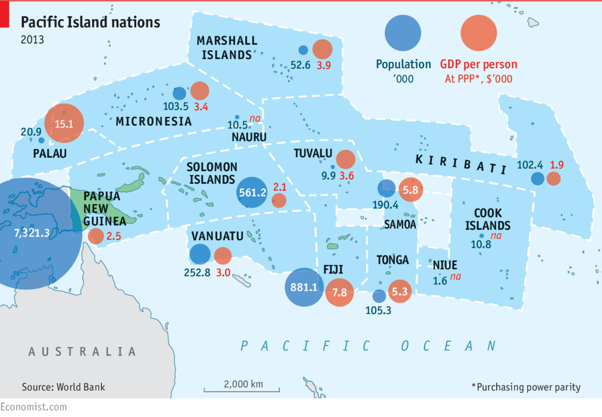 Disaster And Migration In The South Pacific A Failure Of - Us pacific islands map