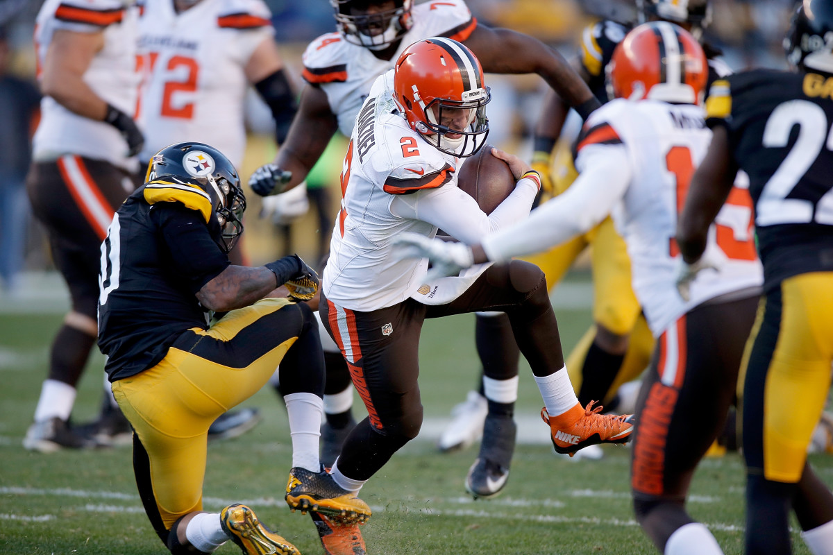 The Browns named Johnny Manziel the starter for the rest of the season after an impressive performance against the Pittsburg Steelers mid-November. (Photo: Gregory Shamus/Getty Images)