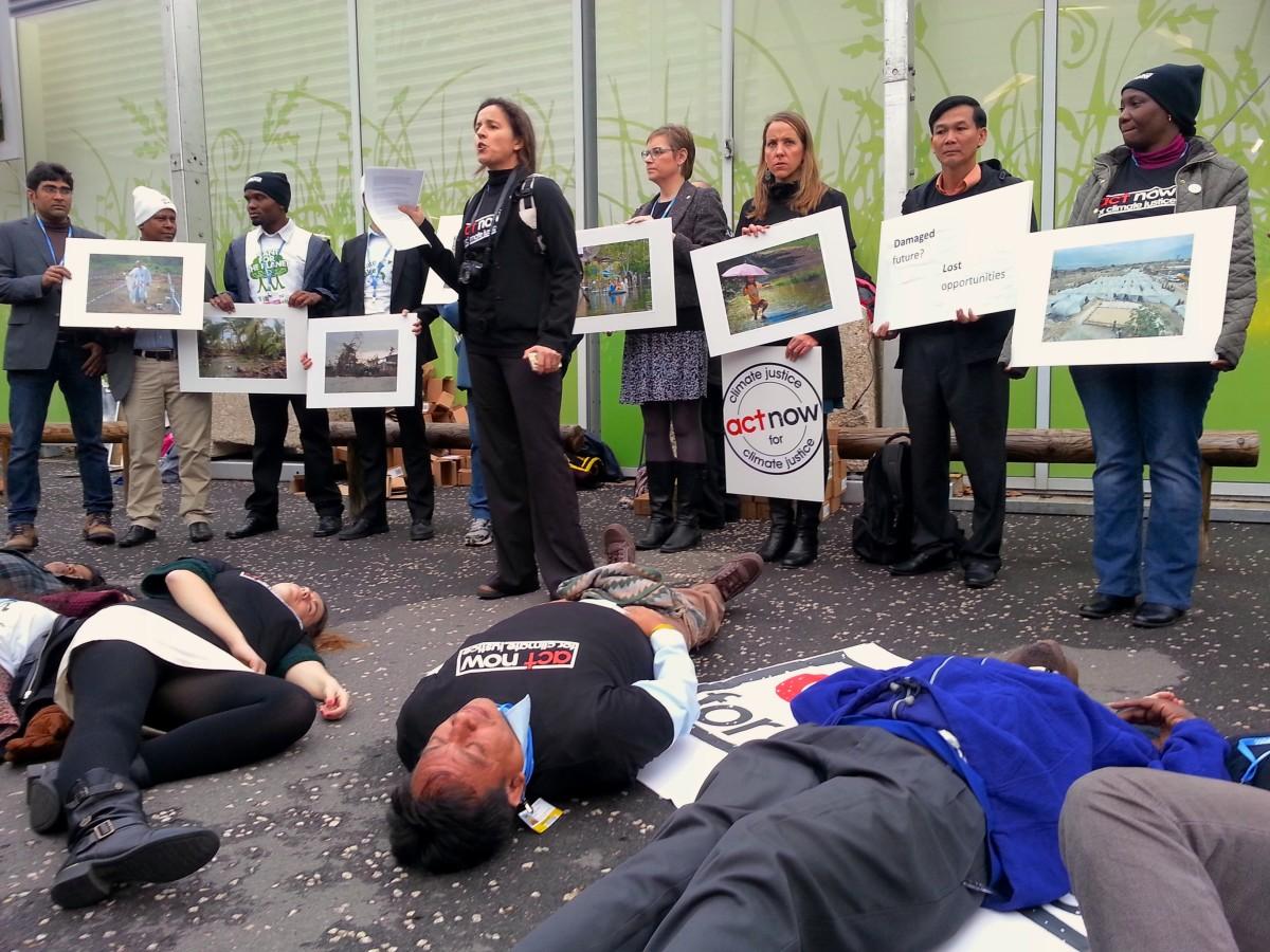 CLIMATE JUSTICE COP21 protest