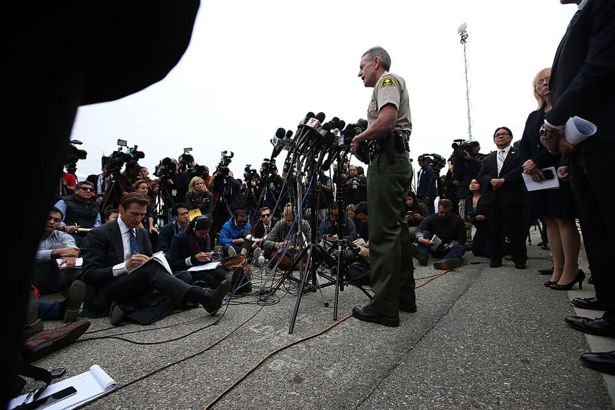 San Bernardino County Sheriff John McMahon speaks during a news conference on December 4, 2015, in San Bernardino, California. (Photo: Justin Sullivan/Getty Images)