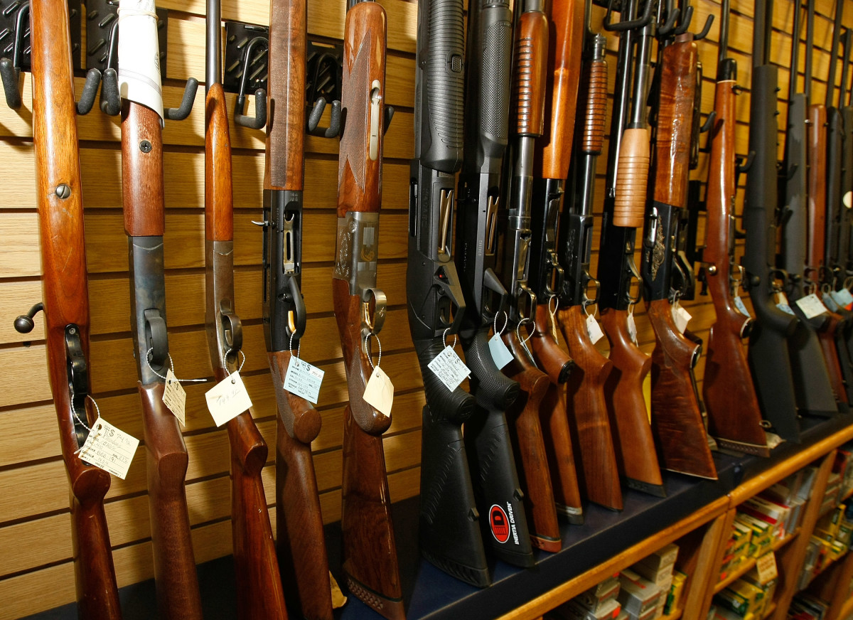 Guns for sale are displayed at the Gun Store in Las Vegas, Nevada. (Photo: Ethan Miller/Getty Images)