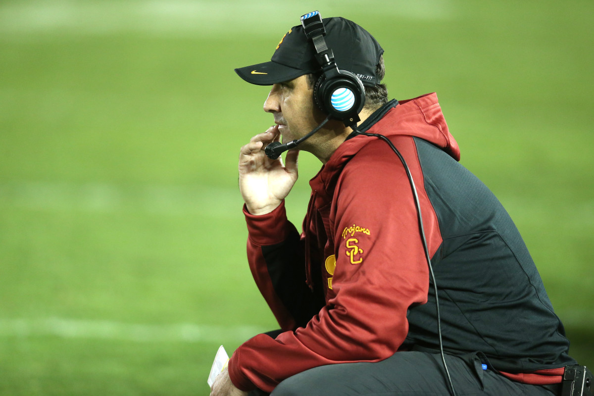 Former University of Southern California head football coach Steve Sarkisian. (Photo: Stephen Dunn/Getty Images)