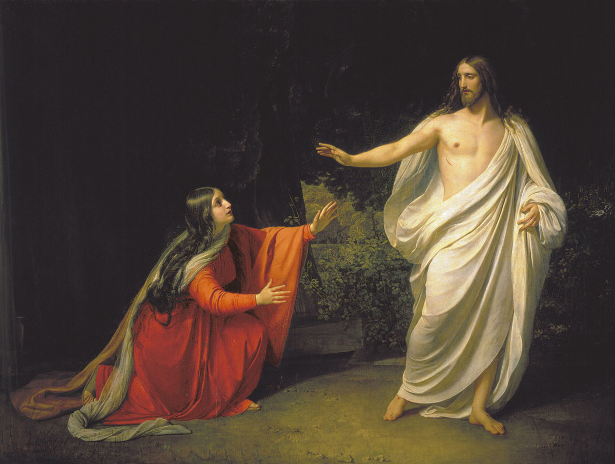 Jesus appearing to Mary Magdalene after his resurrection from the dead, as depicted by painter Alexander Andreyevich Ivanov. (Photo: Wikimedia Commons)