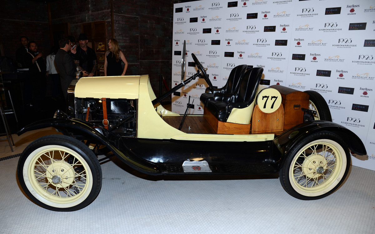A 1923 Ford Model T racing car on display in Las Vegas, Nevada.   (Photo: Ethan Miller/Getty Images)