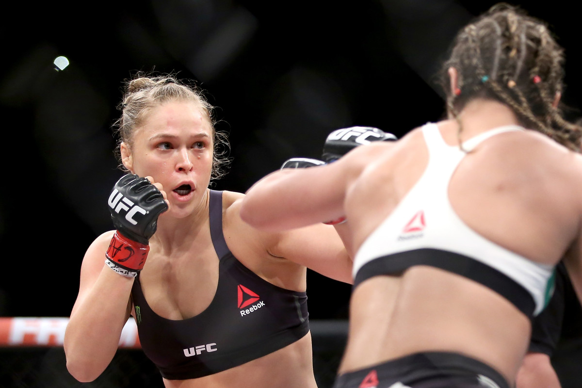 Ronda Rousey in the ring. (Photo: Matthew Stockman/Getty Images)