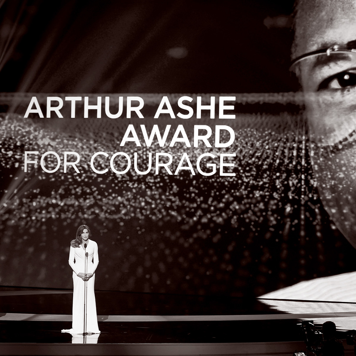 Caitlyn Jenner accepts the Arthur Ashe Award For Courage onstage during the 2015 ESPYS at Microsoft Theater on July 15, 2015, in Los Angeles, California. (Photo: Kevin Winter/Getty Images)