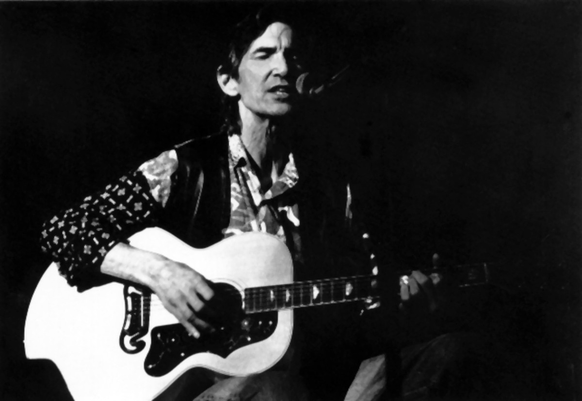 Townes Van Zandt performing at Kult, Niederstetten, in 1995. (Photo: Wikimedia Commons)