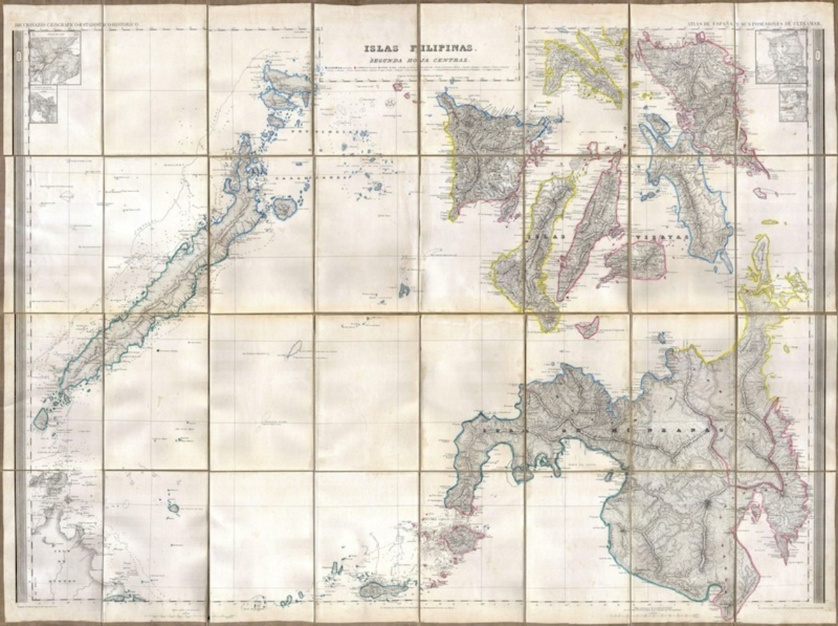 The southern Philippines, in an 1852 map. (Map: Geographicus Rare Antique Maps/Wikimedia Commons)
