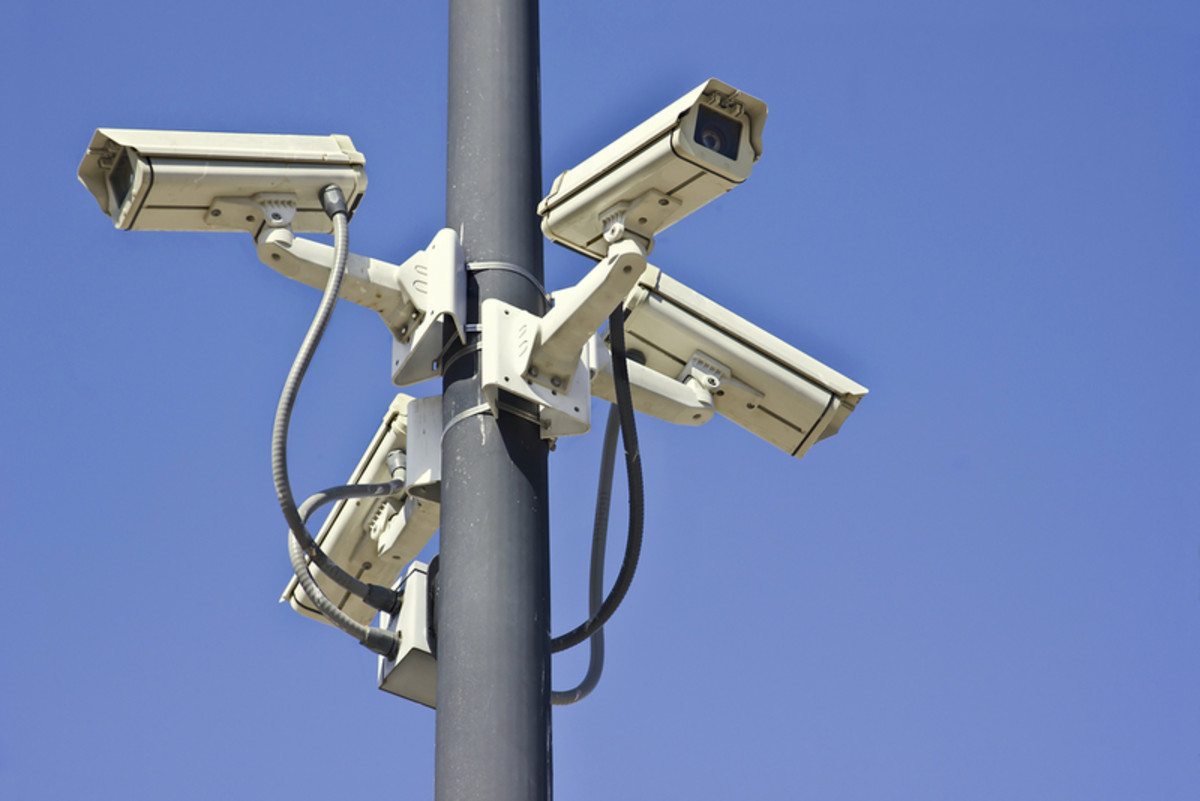 Security cameras covering four angles. (Photo: Johnny Habell/Shutterstock)