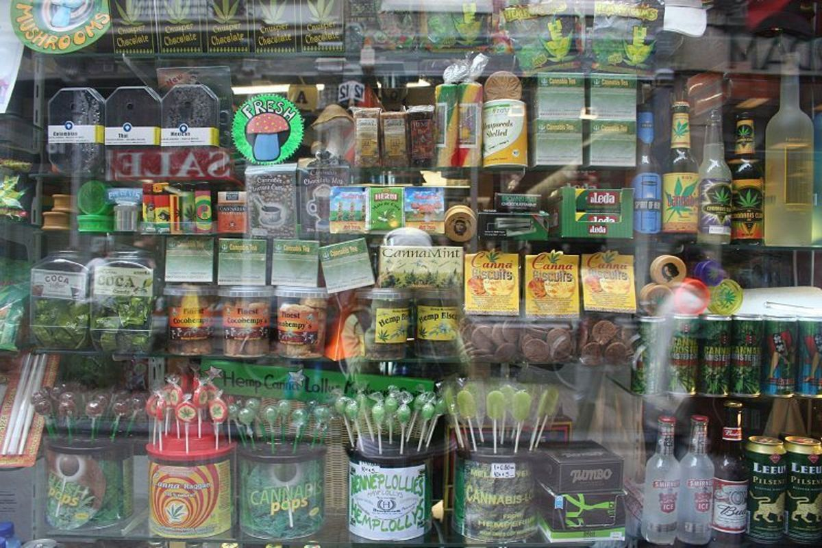 Cannabis products on sale in Amsterdam. (Photo: Nickolette/Wikimedia Commons)