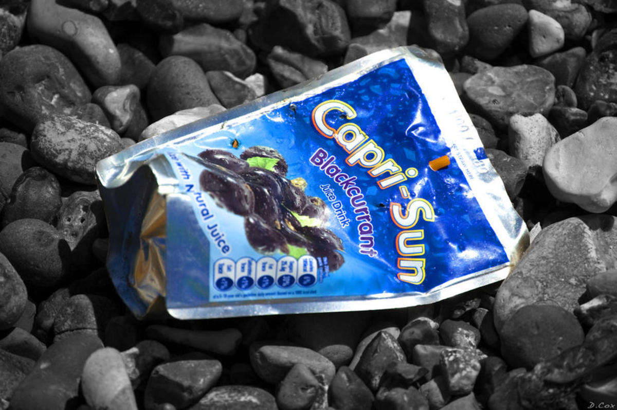 Capri Sun's signature flexible pouches can't be recycled. (Photo: Damien Cox/Flickr)