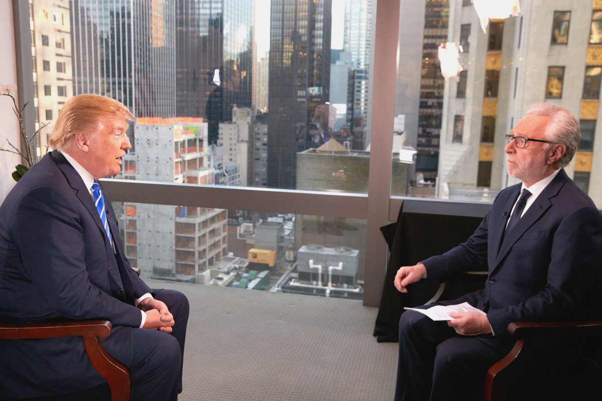 Republican Presidential Candidate Donald  Trump interviewed by journalist Wolf Blitzer on January 6, 2016, in New York City.  (Photo: Regine Mahaux/Getty  Images)