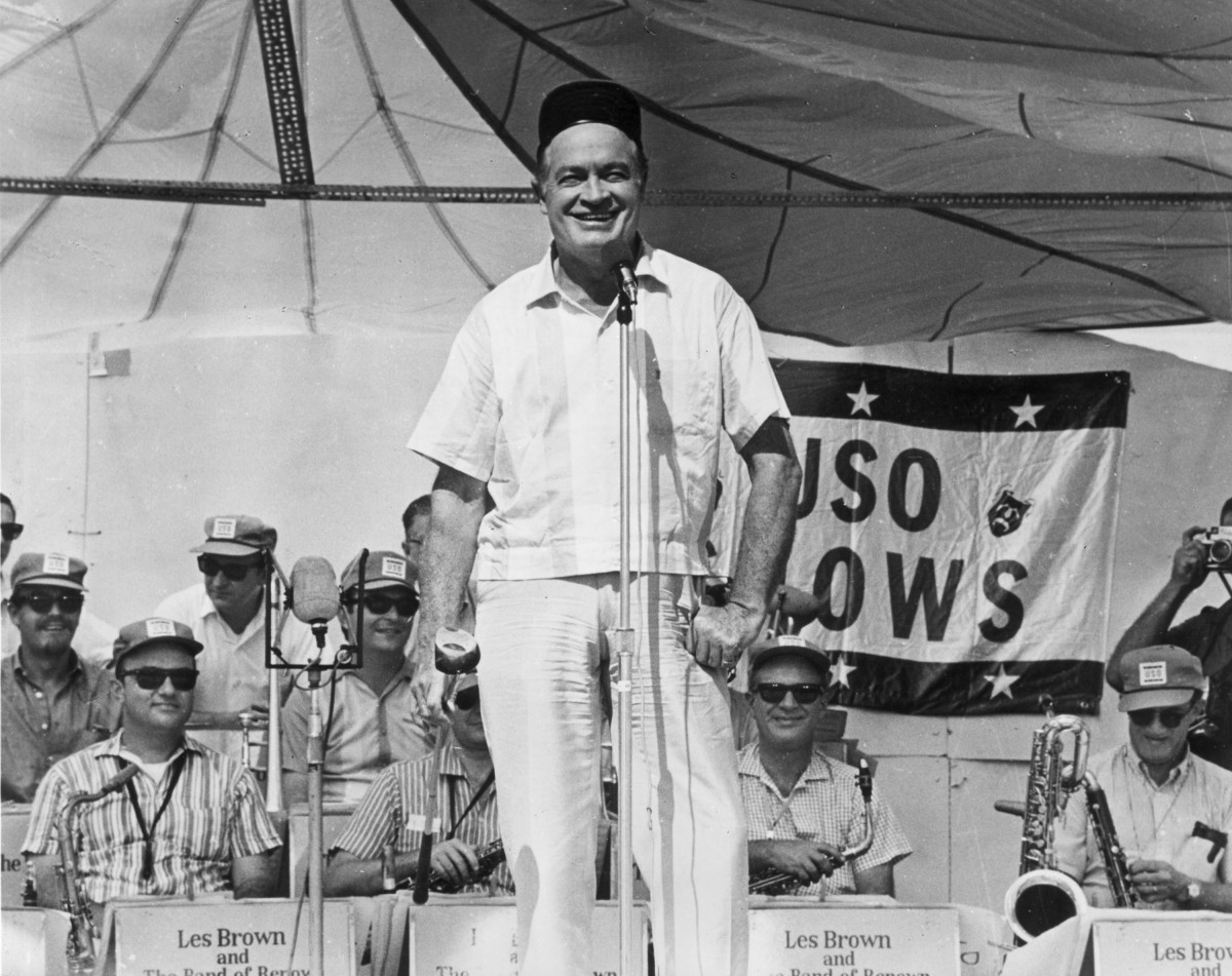 Bob Hope during a 1967 USO show to  entertain American troops overseas during the conflict in Vietnam.  (Photo: Newsmakers)