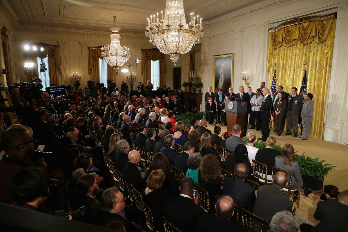 President Barack Obama delivers  remarks about his efforts to increase federal gun control in the East  Room of the White House on January 5, 2016.  (Photo: Chip Somodevilla/Getty Images)