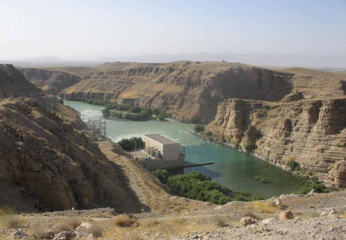 The Kajaki hydroelectric dam in the Kajaki district in Helmand province as seen on August 23, 2007. (Photo: Bronwen Roberts/AFP/Getty Images)