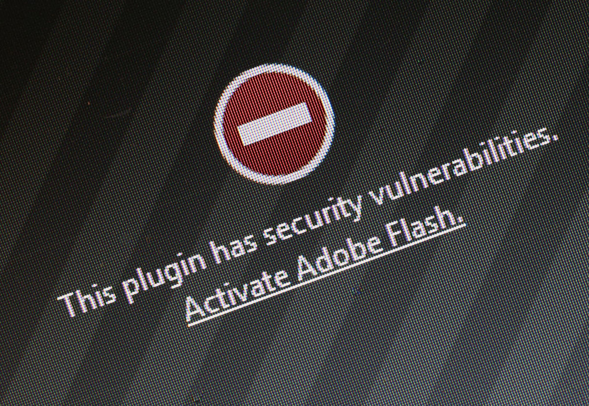 A window on the Mozilla Firefox browser  shows the browser has blocked the Adobe Flash plugin from activating due  to a security issue on July 14, 2015. (Photo: Sean Gallup/Getty  Images)