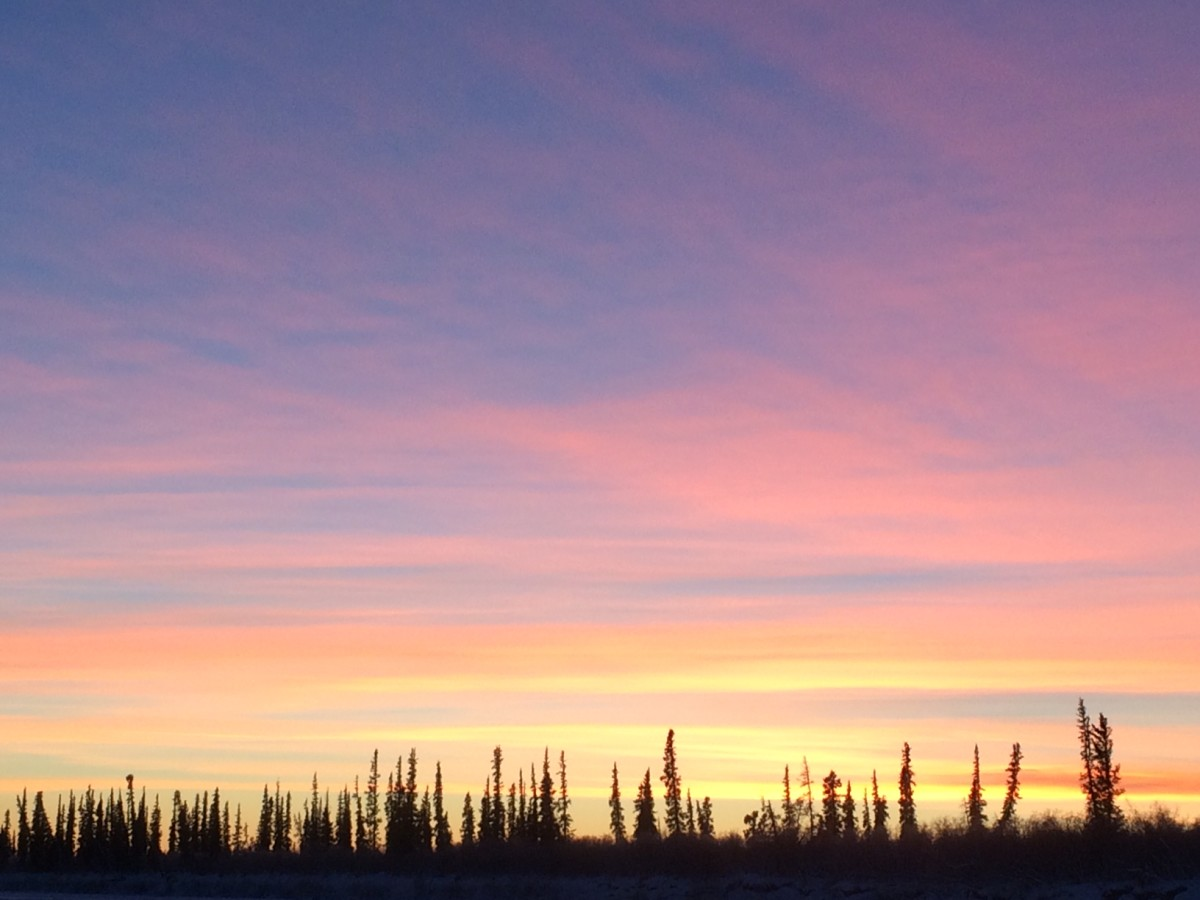A mid-afternoon Arctic sunset. (Photo: Eva Holland)