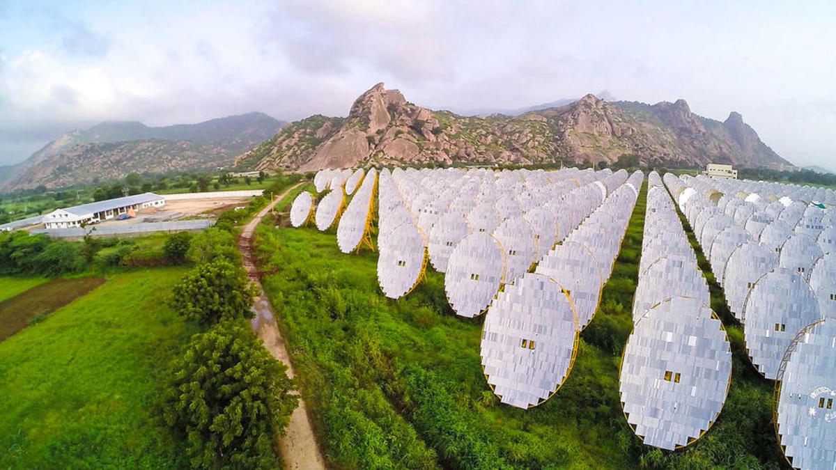 A solar thermal project in Rajasthan, India. (Photo: Brahma Kumaris/Flickr)