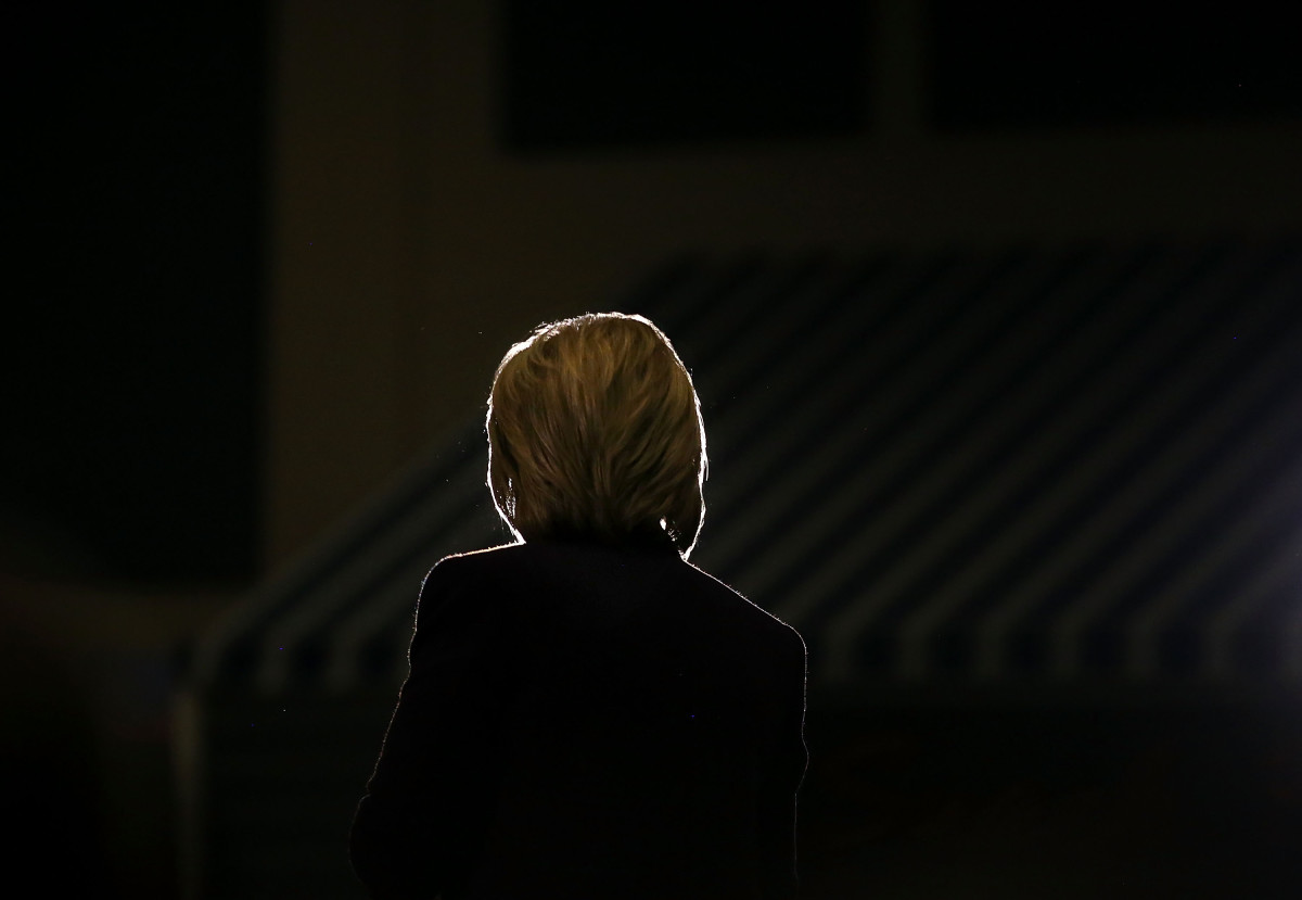 Hillary Clinton speaks during a campaign event at Winnacunnet High School on February 2, 2016, in Hampton, New Hampshire. (Photo: Justin Sullivan/Getty Images)