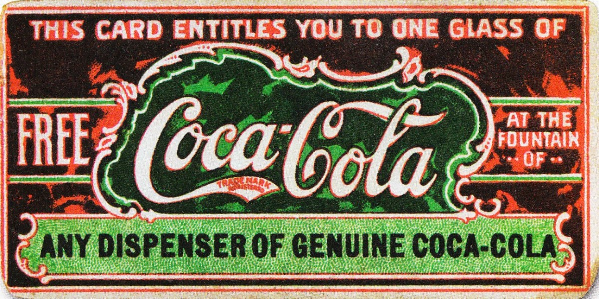 Believed to be the first coupon ever, this ticket for a free glass of Coca-Cola was first distributed in 1888 to help promote the drink. (Photo: Wikimedia Commons)