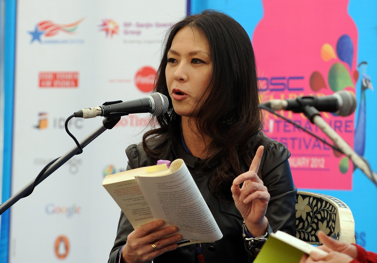 Author Amy Chua. (Photo: Prakash Singh/AFP/Getty Images)