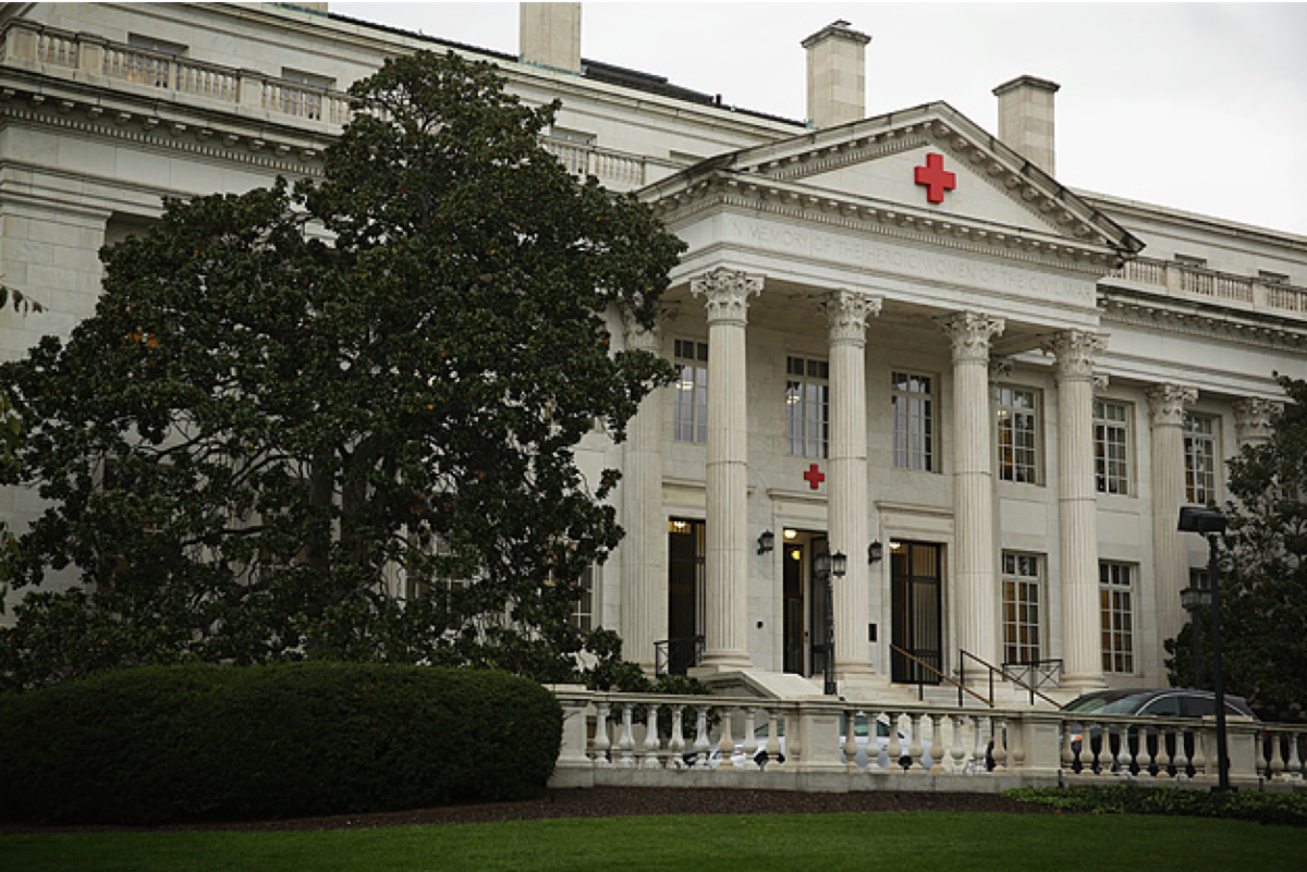 The American Red Cross' national headquarters in Washington, D.C. (Photo: Alex Wong/Getty Images)