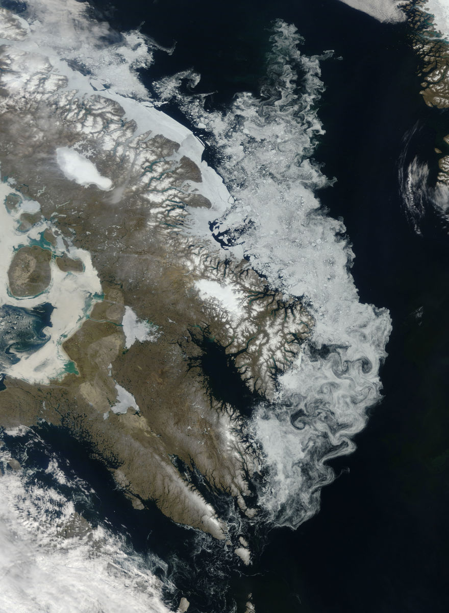 The Barnes Ice Cap, containing remnants of the Laurentide Ice Sheet. (Photo: Wikimedia Commons)