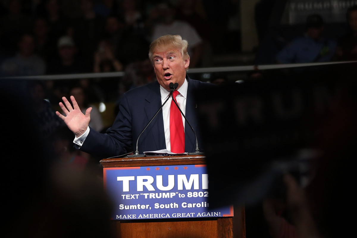Donald Trump campaigns in South Carolina ahead of the state's primary. (Photo: Spencer Platt/Getty Images)