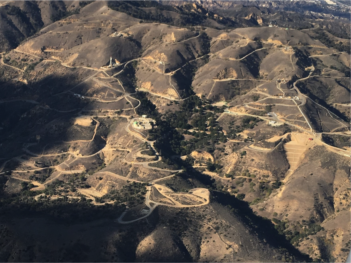 Aerial image of Aliso Canyon natural gas storage facility. (Photo: Stephen Conley/University of California–Davis)