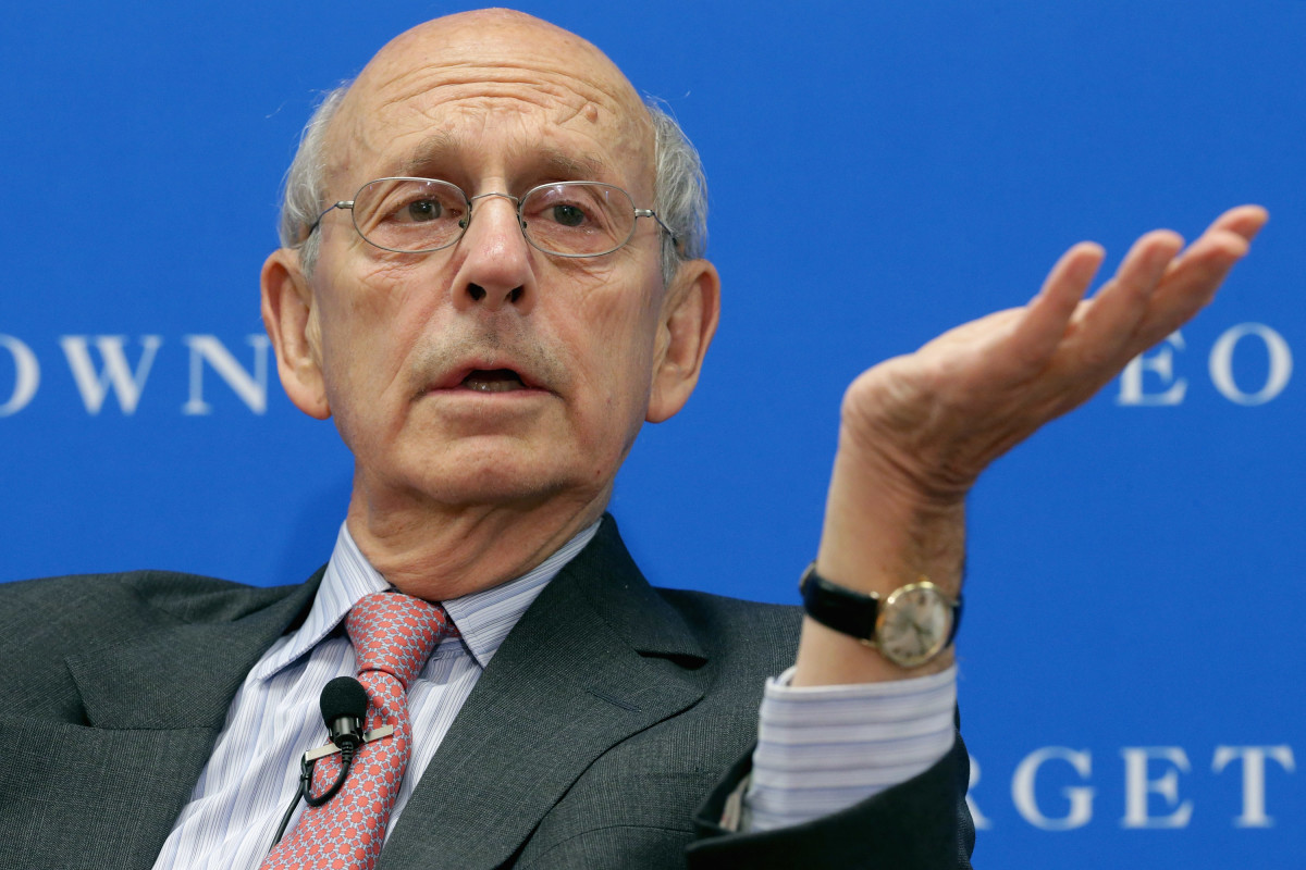 Supreme Court Associate Justice Stephen  Breyer, shown here at a Georgetown University panel, raised the possibility that the federal government could require self-insured plans to disclose their data. (Photo: Chip Somodevilla/Getty Images)
