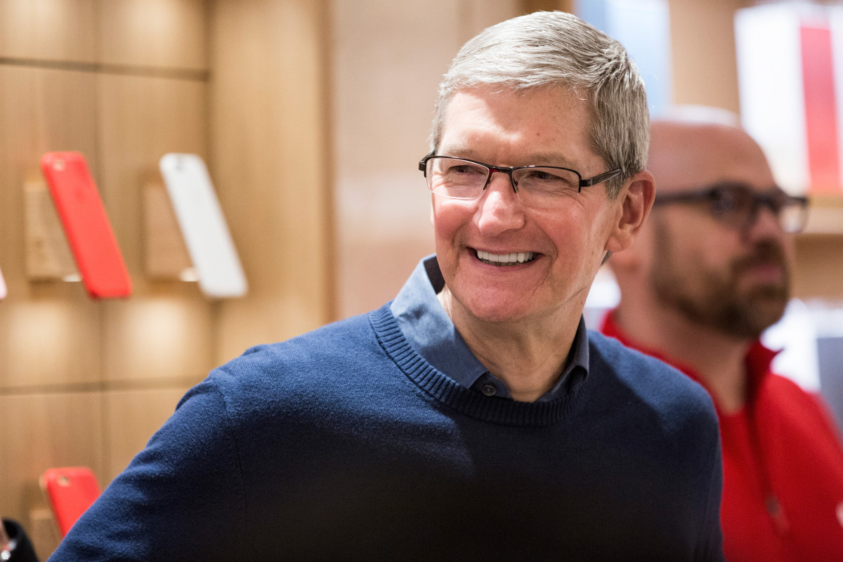 Tim Cook, CEO of Apple. (Photo: Andrew Burton/Getty Images)
