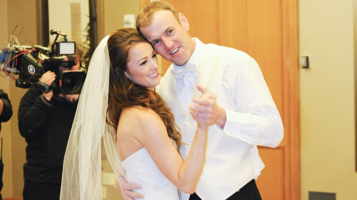First-season contestant Jamie Otis initially resisted marrying co-star Doug Hehner. Eighteen months later, they're still going strong. (Photo: FYI Network)