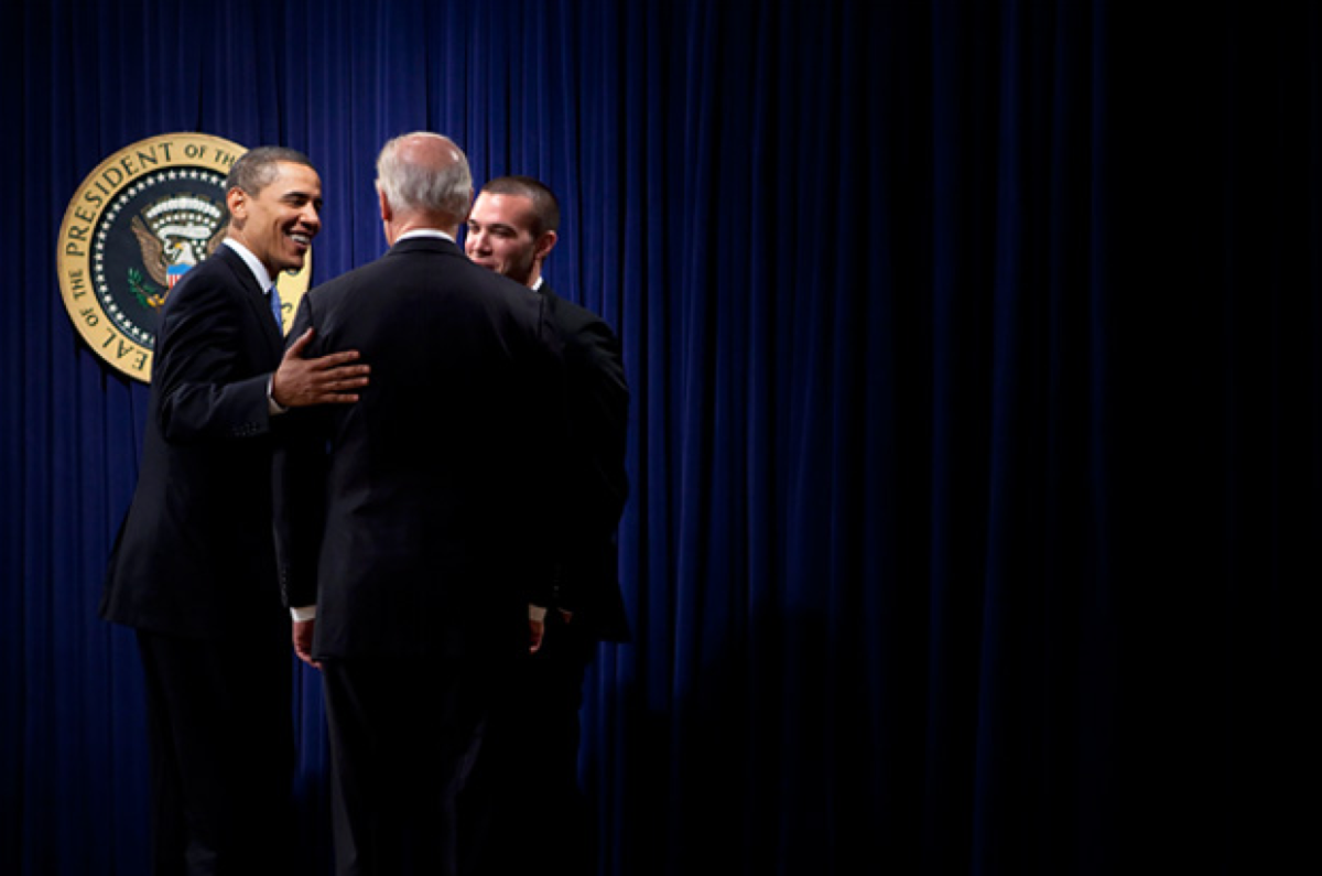 President Obama, shown with Vice President Joe Biden, after speaking at an event where Obama signed an executive order related to the Freedom of Information Act. (Photo: Brendan Smialowski/Getty Images)