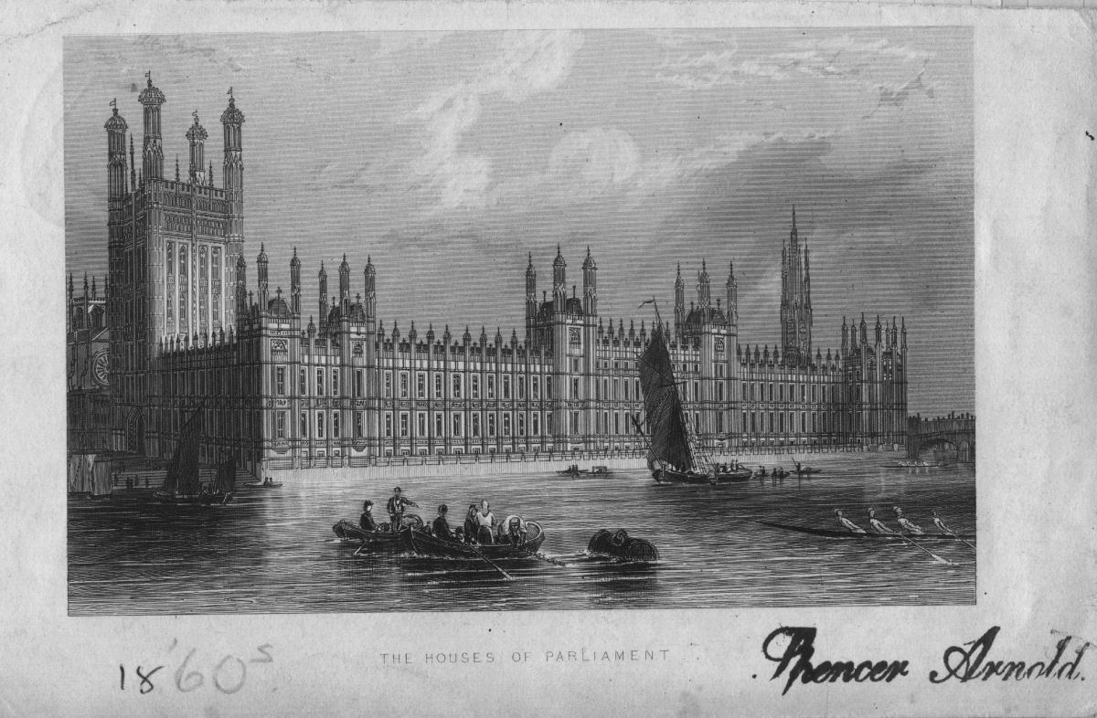 The Houses Of Parliament, circa 1860. (Photo: Hulton Archive/Getty Images)