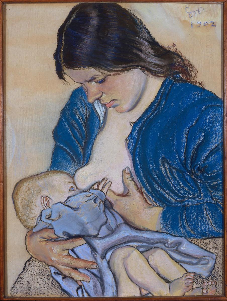 Maternity, a 1902 painting by Stanisław Wyspiański. (Photo: Wikimedia Commons)