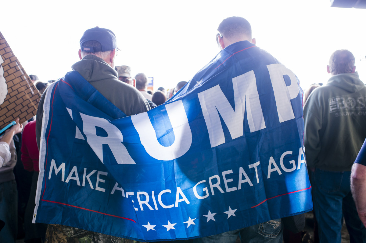 Donald Trump supporters gather at Youngstown Airport on March 14, 2016, in Vienna,  Ohio.(Photo: Angelo Merendino/Getty Images)