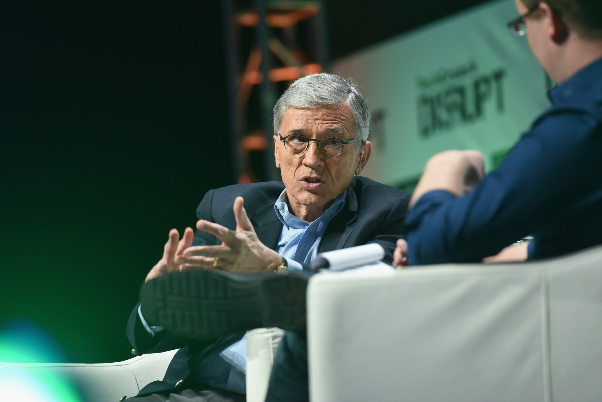 FCC Chairman Tom Wheeler speaks onstage during TechCrunch Disrupt on May 4, 2015, in New York City. (Photo: Noam Galai/Getty Images for TechCrunch)